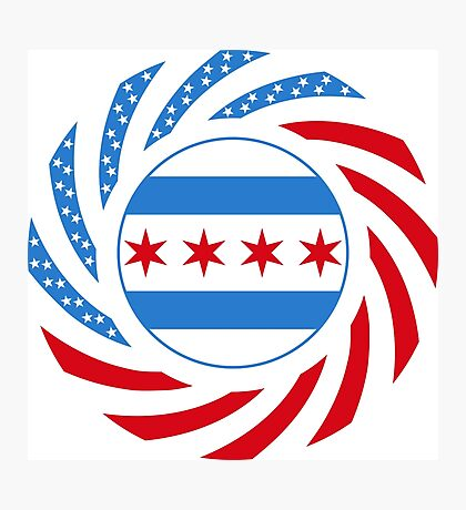 Chicago Murican Patriot Flag Series Photographic Print