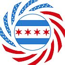 Chicago Murican Patriot Flag Series by Carbon-Fibre Media