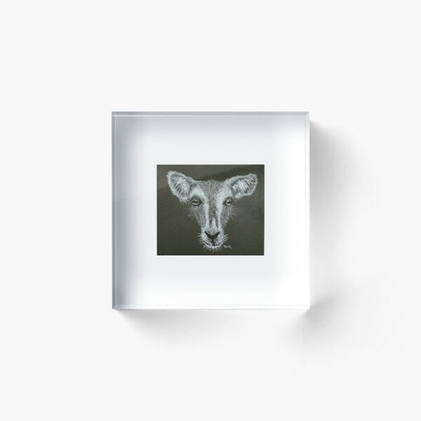 Black and White Goat Design Acrylic Block