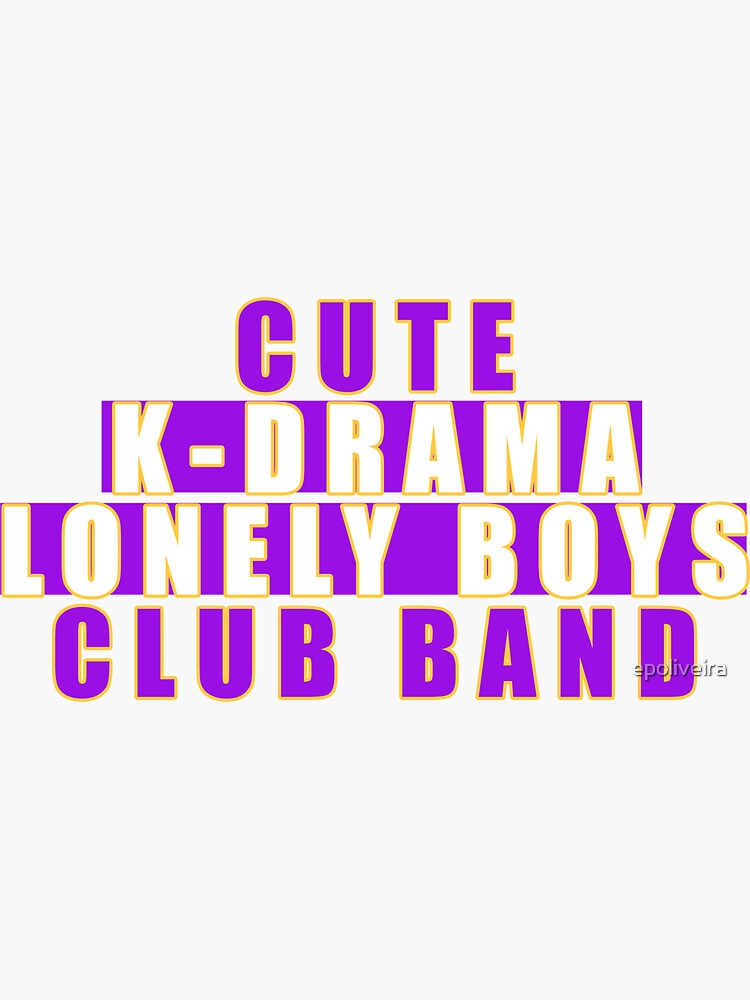 Cute  k-drama lonely boys club band by epoliveira