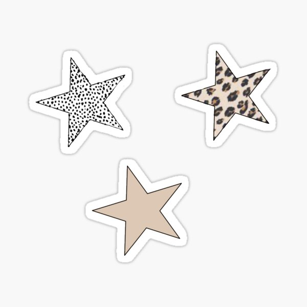 Animal Print Star Pack Sticker