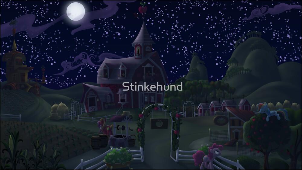 Sweet Apple Acres, Night by Stinkehund