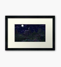 Sweet Apple Acres, Night Framed Print