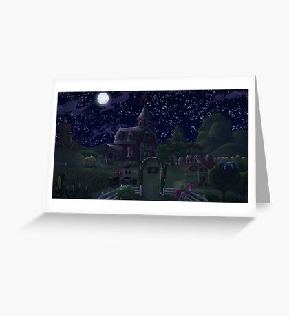 Sweet Apple Acres, Night Greeting Card