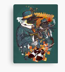 Mobster Puzzle Canvas Print