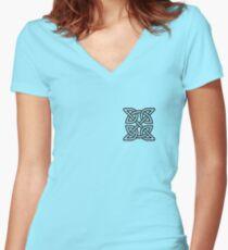 Celtic Knot Tribal Tattoo Women's Fitted V-Neck T-Shirt