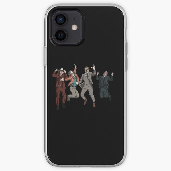 Ron Burgundy Anchorman Crew Jumping iPhone Soft Case