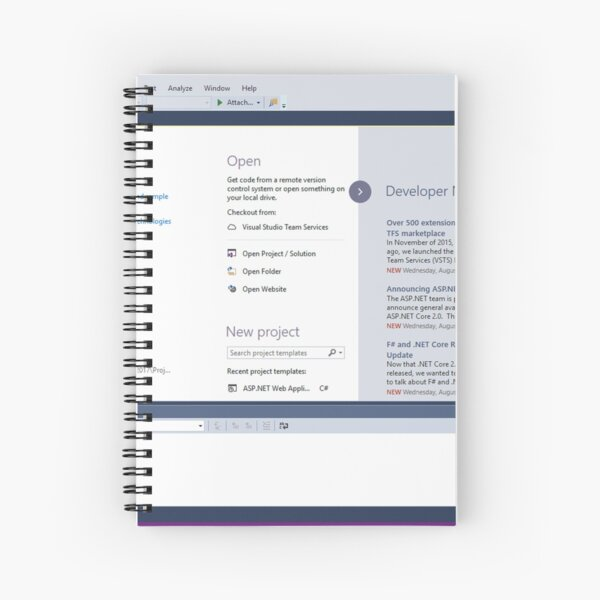 Get Started with C++ in Visual Studio Spiral Notebook