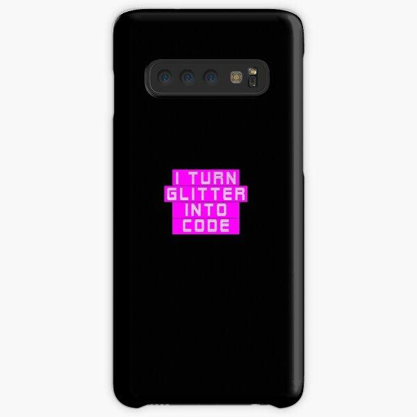 I turn glitter into code girl programmer | GeekGirls Samsung Galaxy Snap Case