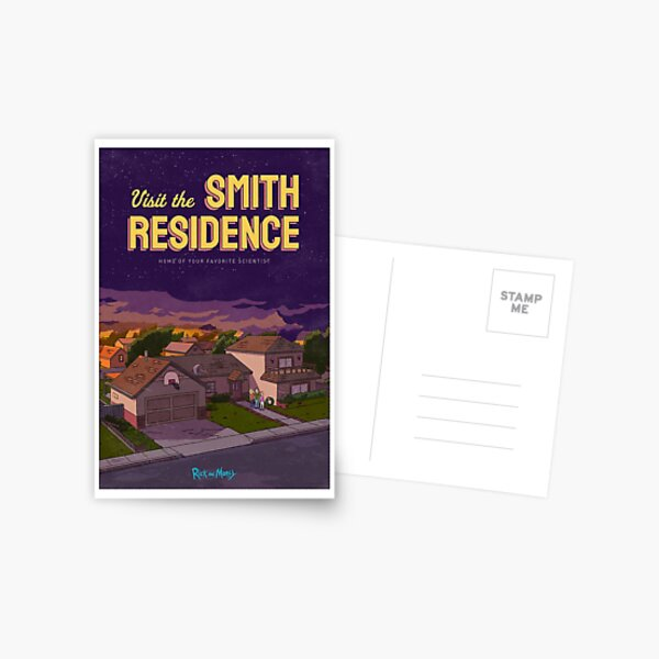 Visit the Smith Residence  Postcard
