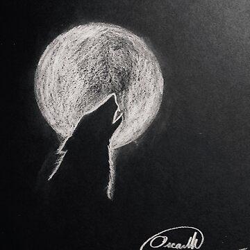 Howling moon by MrBrightsidee
