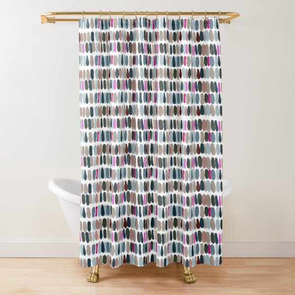 Coloured spots Shower Curtain