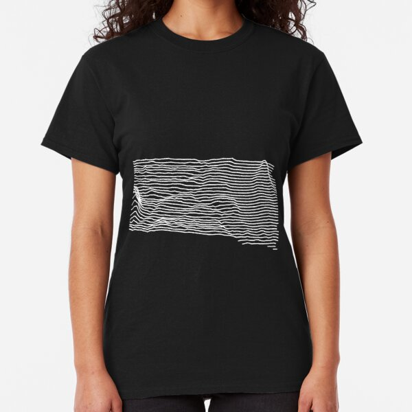 South Dakota - Unknown Elevations (Without Text) Joy Plot Map Classic T-Shirt