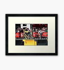 Tour de France 2012 - Wiggo & Cav in Paris Framed Print