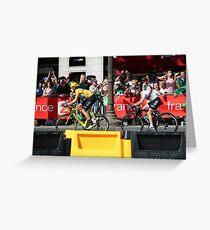 Tour de France 2012 - Wiggo & Cav in Paris Greeting Card