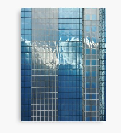 clouds love to dance on glass Canvas Print