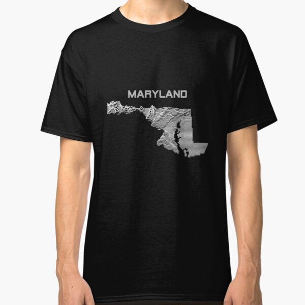 Maryland - Unknown Elevations Joy Plot Map Classic T-Shirt
