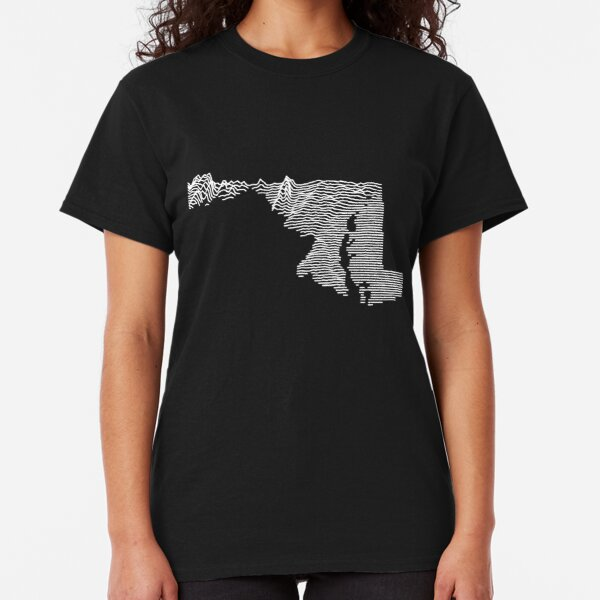 Maryland - Unknown Elevations (Without Text) Joy Plot Map Classic T-Shirt