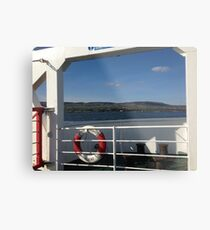 From the Foyle Ferry, Ireland Metal Print