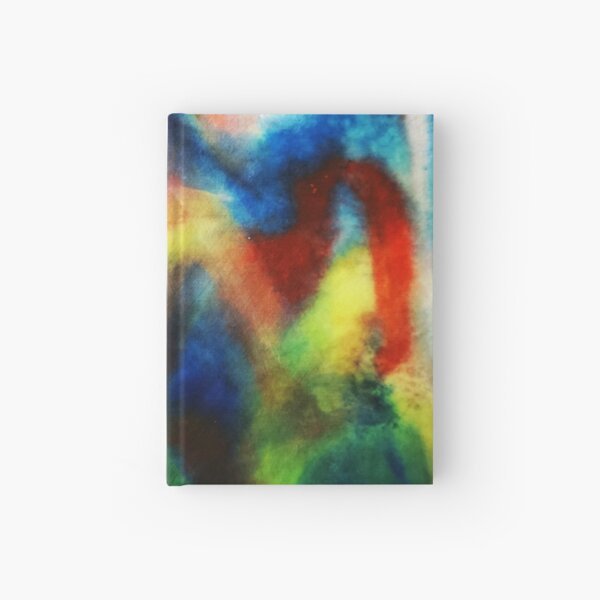 Blue Abstract Mountain Chinese Painting Art   Hardcover Journal