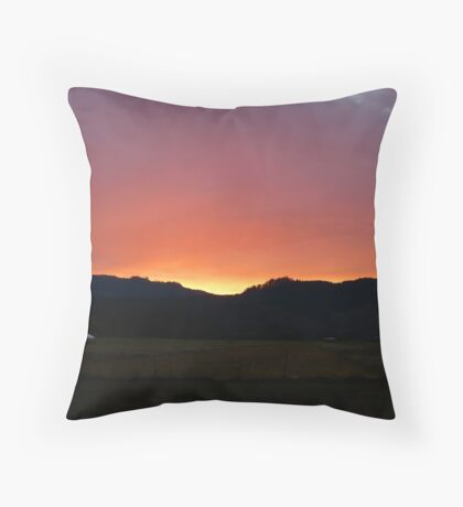 Sunset on the Airstrip Throw Pillow