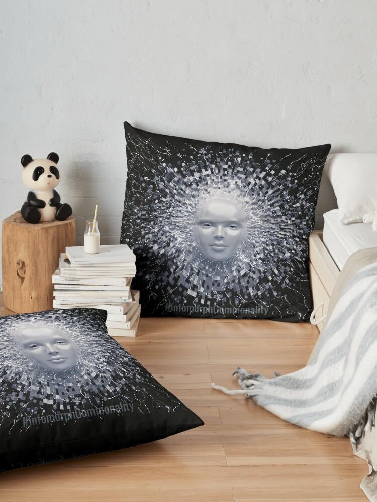 Alternate view of #InfomorphCommonality Floor Pillow
