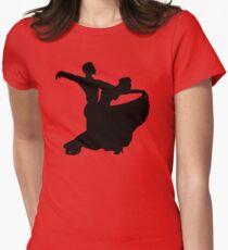 Ballroom Dancing Couple Women's Fitted T-Shirt
