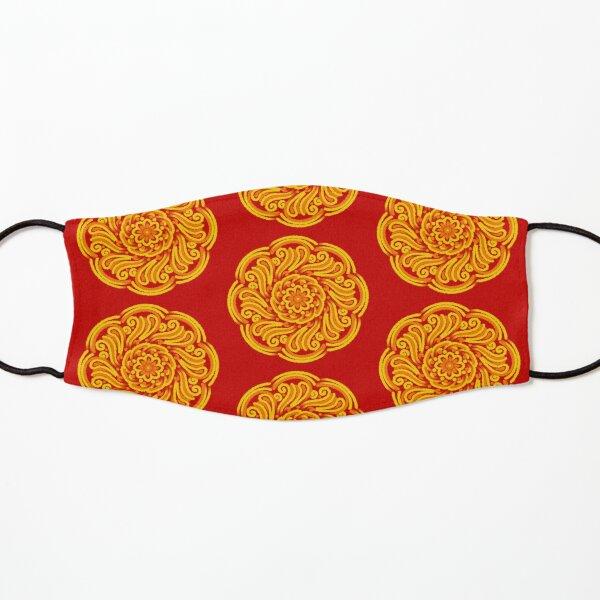 Red Batik Style Floral Pattern  Kids Mask