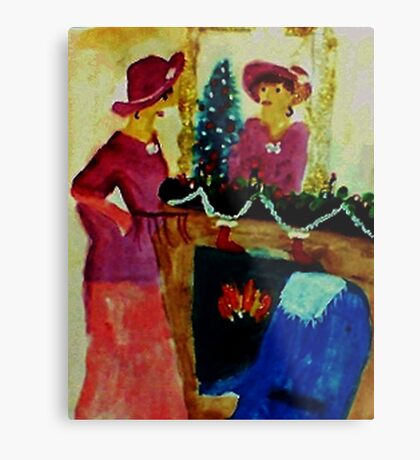 We are ready for Christmas, watercolor Metal Print