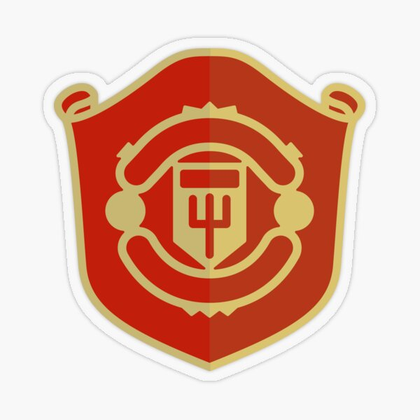 Man Utd emblem Transparent Sticker