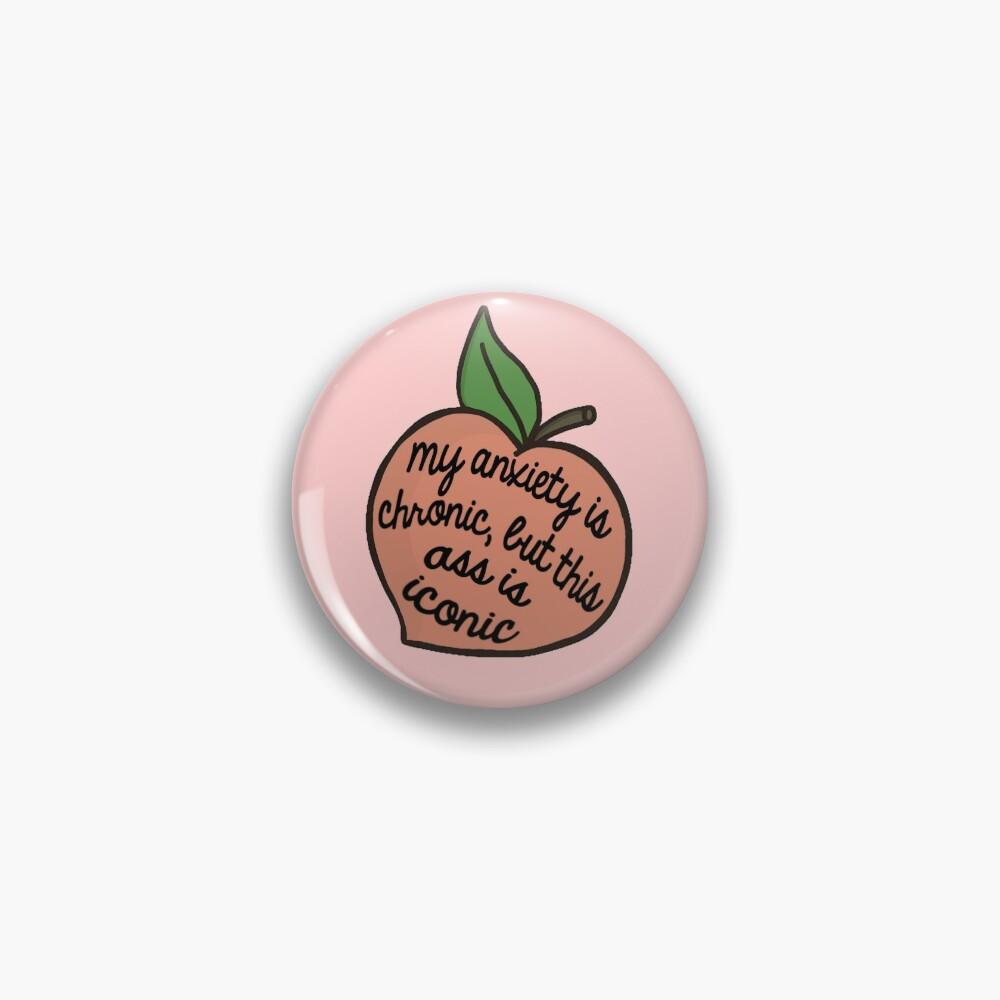 anxiety peach Pin