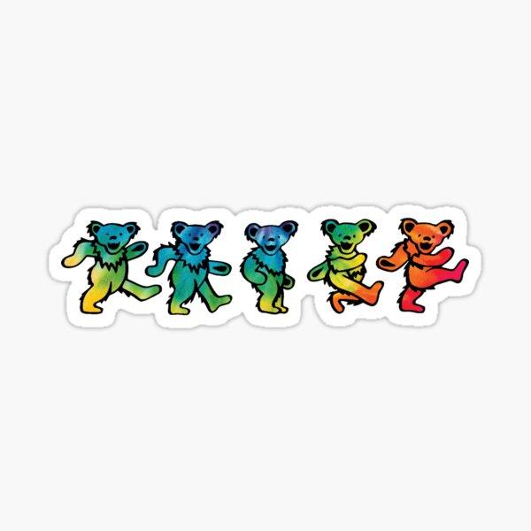 Tie Dye Dancing Bears Sticker