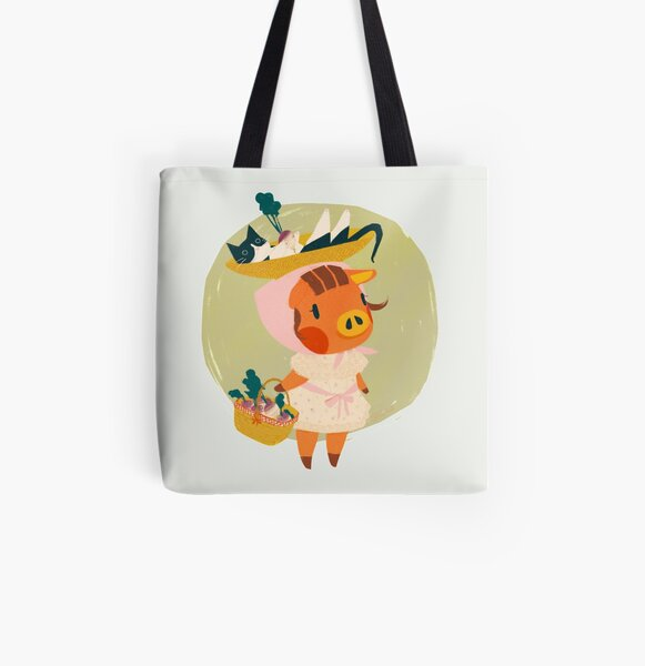 Daisy Mae with Turnip All Over Print Tote Bag