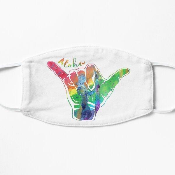 Shaka sign, hang loose Flat Mask