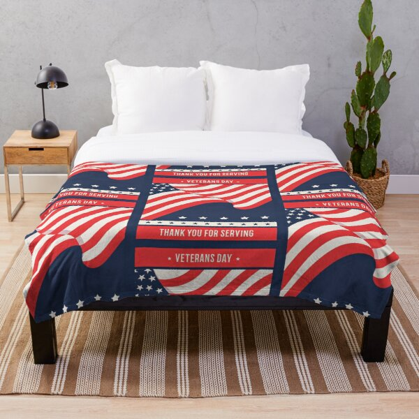 Veterans Thank you for serving! Throw Blanket