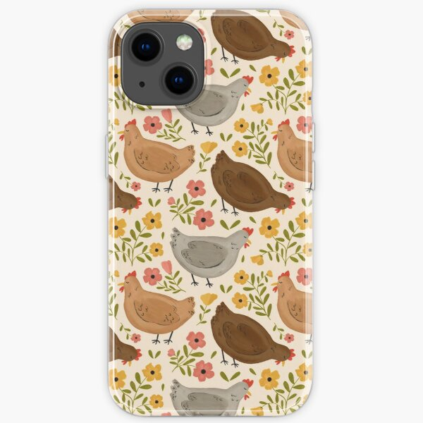 Springtime Chickens iPhone Soft Case