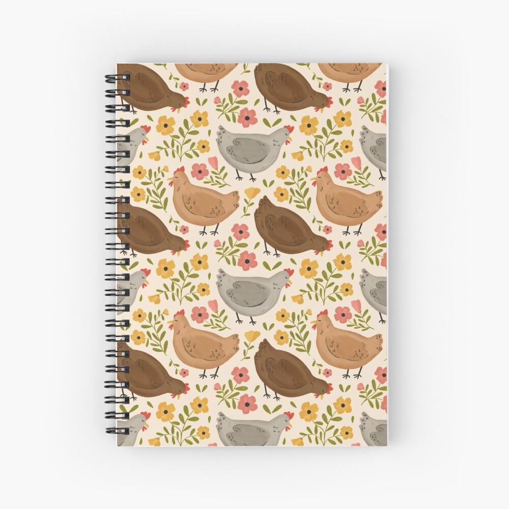 Springtime Chickens Spiral Notebook