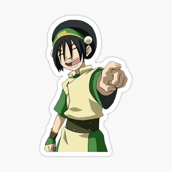 Toph Beifong Point and Laugh Avatar Sticker