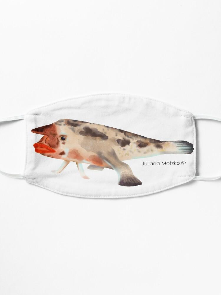 Alternate view of Redlipped Batfish Mask