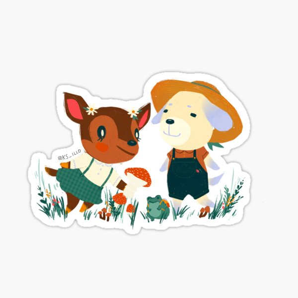 Fauna and Daisy Sticker