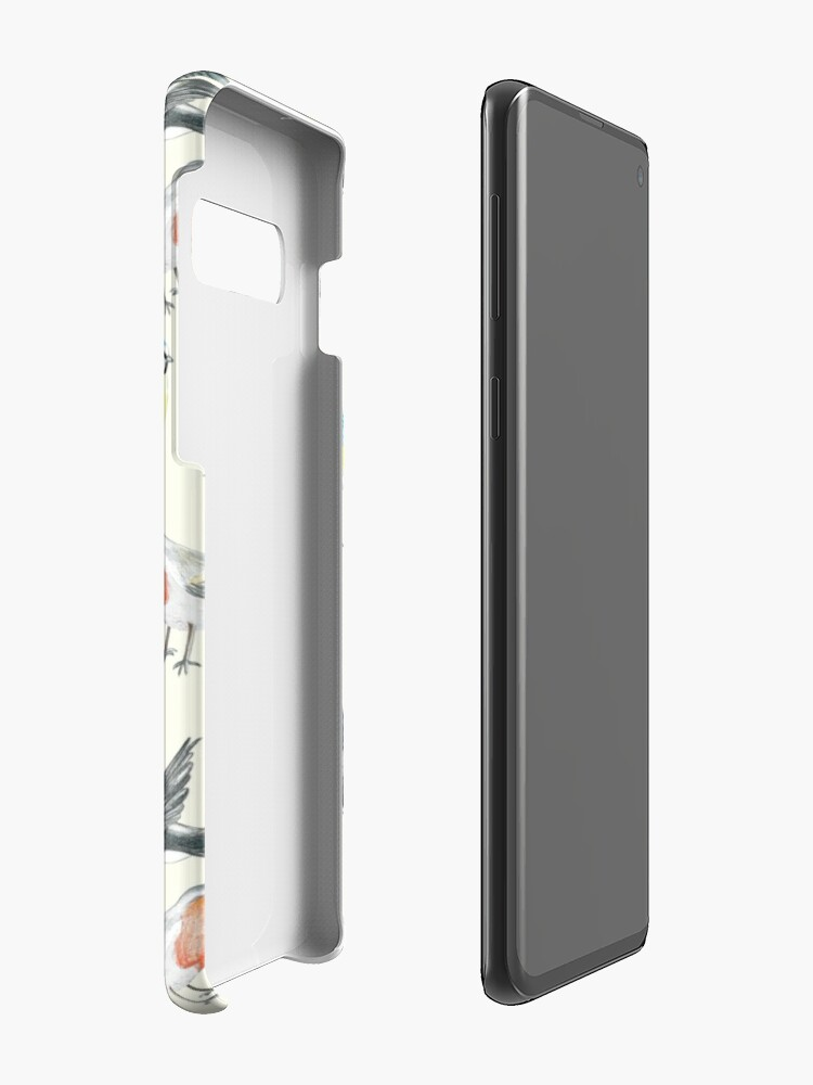 Alternate view of Illustrated Birds Case & Skin for Samsung Galaxy