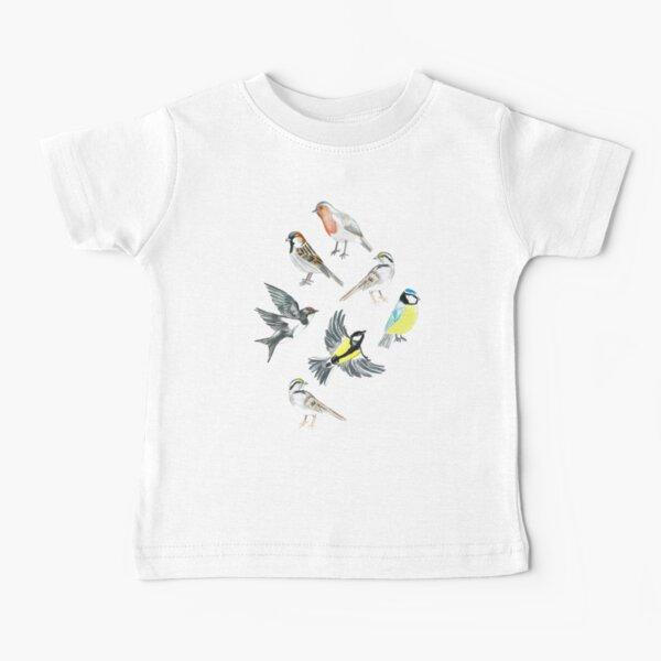 Illustrated Birds Baby T-Shirt