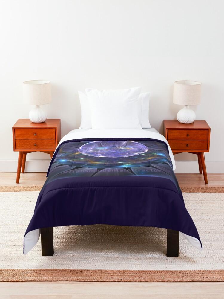 Alternate view of #TranscendentalAttractor Comforter