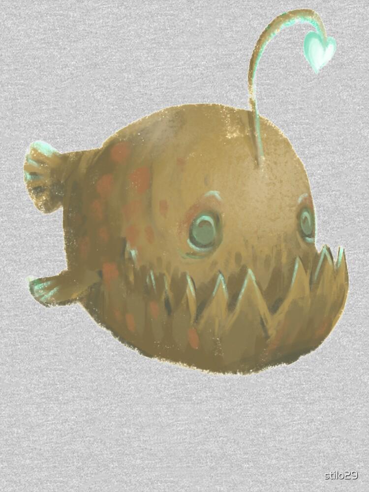 Cute Cartoon Angler Fish - Painted Illustration by stilo29