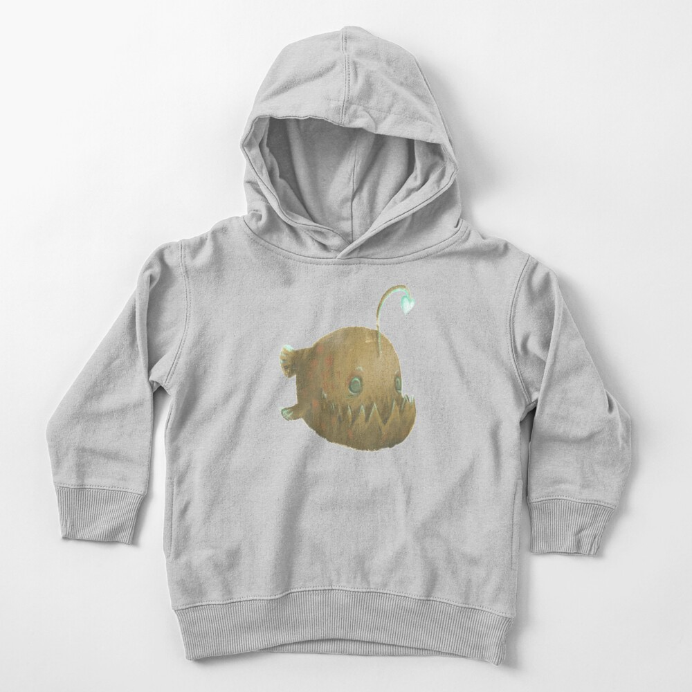 Cute Cartoon Angler Fish - Painted Illustration Toddler Pullover Hoodie