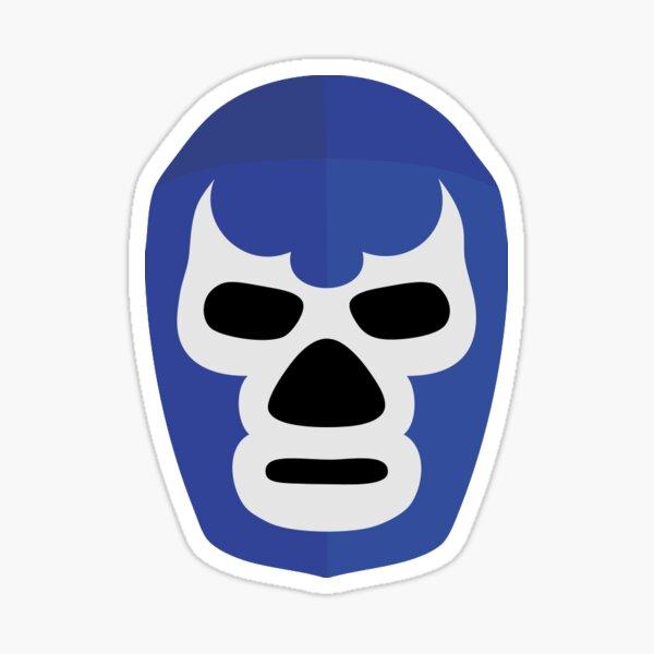 Luchador Demonio Azul Pegatina