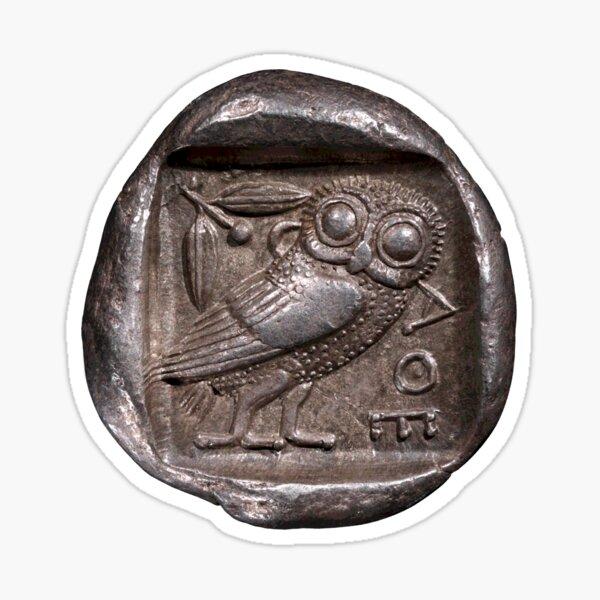 Athenain Silver Tetradrachm Owl  Sticker