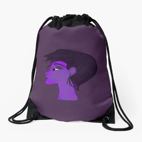 Purple Pixie Drawstring Bag