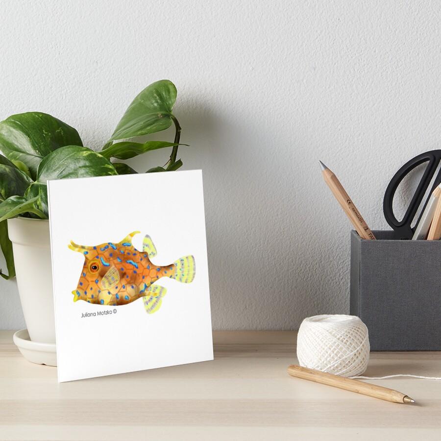 Thornback Cowfish Art Board Print