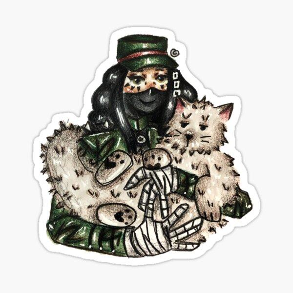 kiyo with cat Sticker